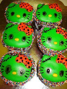 zombie hello kitty cupcakes!!