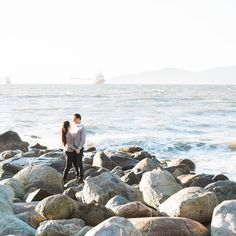 cool vancouver wedding Sunny January walks by the ocean. #engaged #beautifulbc #bettertogether #westcoast by @cpienaarphoto  #vancouverengagement #vancouverwedding #vancouverwedding