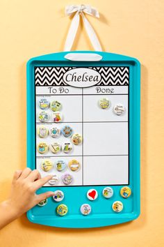 Choose your own magnets by SallySuesShop on Etsy (the magnetic background is a cookie sheet!)