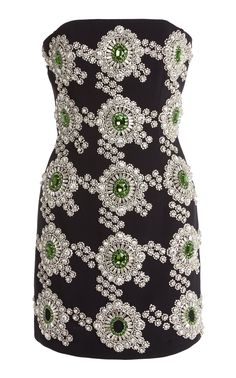 Embellish Crepe Mini Dress by David Koma Stage Outfits, Kpop Outfits, Dance Outfits, Dress Stores Near Me, Prom Dress Stores, Types Of Dresses, Short Dresses, Pretty Outfits, Beautiful Outfits