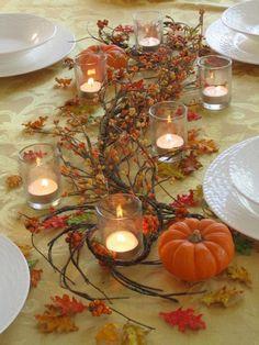 Thanksgiving Table Centerpiece Ideas (22 Pics)