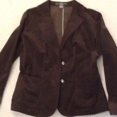 Brown corduroy Jacket Brown Corduroy fitted jacket, two button Jackets & Coats