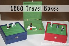 Lego Travel Boxes... just got an old cigar box at goodwill... this is such a good idea for it!