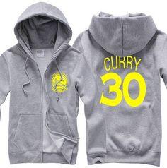 NBA Golden State Warriors Stephen Curry zipper hoodie sweater