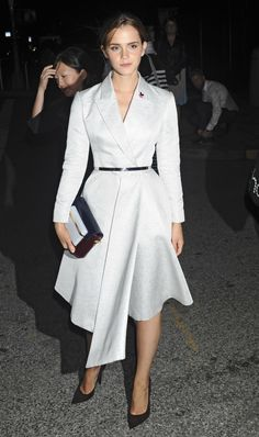 50 Shades of Grey (dresses) Emma Watson in a grey dress