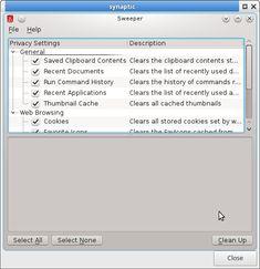 Sweeper es una alternativa en Linux Ubuntu/Mint a CCleaner