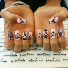 Tribal nail designs #nails