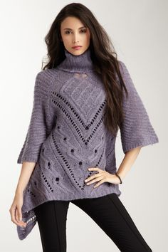 3/4 Length Sleeve Knit Turtleneck Sweater...love this sweater!