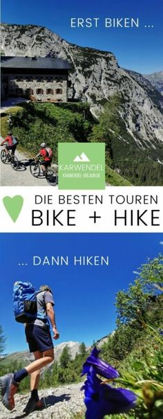 --> BIKE & HIKE Karwendel ❤️ zuerst mit dem MTB, dann wandern Mtb, Desktop Screenshot, Hiking, Maple Flooring, Bavaria Germany, Tours, Walks, Trekking, Hill Walking