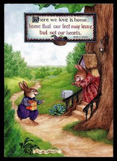 Susan Wheeler artwork with an endearing quote ~ Susan Wheeler, Bunny Art, Cute Bunny, Les Moomins, Alfabeto Animal, Beatrice Potter, Peter Rabbit And Friends, Kids Artwork, Vintage Children's Books