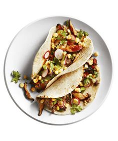 Shiitake Beef Tacos | Meaty, smoky shiitake mushrooms are a clever addition to…