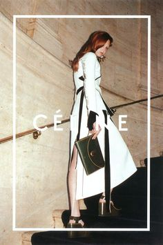 Céline Fall/Winter 2014-15 campaign featuring Daria Werbowy and Natalie Westling. Photographed by Juergen Teller.