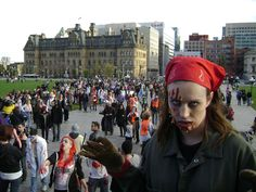Be a zombie in a Zombie Walk, Ottawa (Parliment Hill) Government Of Canada, Zombie Walk, Ottawa, That Look