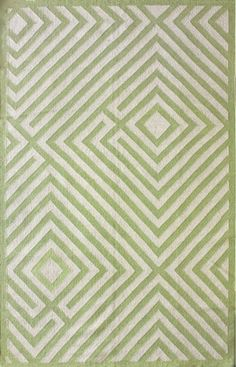 Also comes in blues and brown. I think the lines of this rug would help make the room look larger.