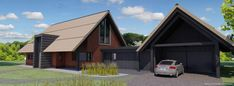 Building Design Architectuur Building Design, Shed, Outdoor Structures, Cabin, House Design, House Styles, Garage, Outdoors, Home Decor