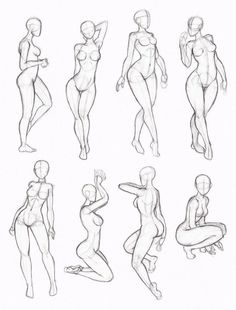 "figuras femininas [   ""Some sketchy copies from one of Kate-FoX"
