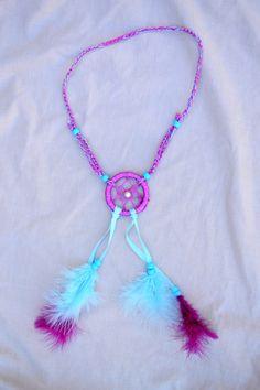 Purple And Blue Dreamcatcher Headband