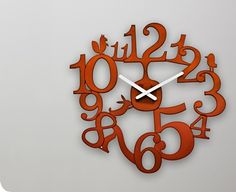 acrylic clock - laser cut and engraved.