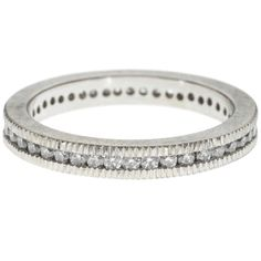 Todd Reed    Palladium with white brilliant cut diamonds (0.585ctw)