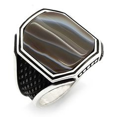 REDUCED!!! 925 Sterling Silver Silver Ring Black Black Onyx Men | Uhren & Schmuck, Echtschmuck, Ringe | eBay!