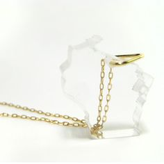 Wisconsin Necklace, $30, now featured on Fab.