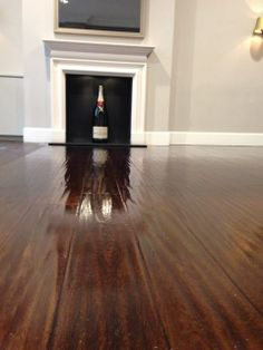 Sanding before restaining and sealing produces a clean new look but with the texture of the old material. Floor Stain, Hardwood Floors, Flooring, Wet And Dry, Fun Ideas, Concrete, Home Improvement, Restoration, Purpose