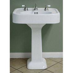 Randolph Morris Pedestal Bathroom Sink 12 Inch Faucet Drillings