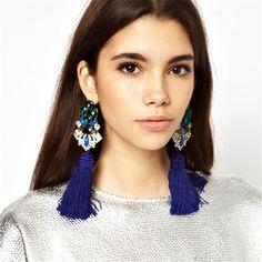 2017 New Fashion Statement Jewelry Tassel Long Earring For Women Wedding Dangle Drop Earrings //Price: $US $2.10 & FREE Shipping //     #hashtag1