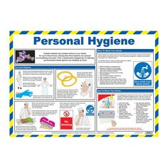 Personal Hygiene Food Hygiene Wallchart - Everything About Personal Hygiene Kitchen Hygiene, Food Standards Agency, Workplace Safety Tips, Parking Solutions, Procedural Writing, Floor Stickers, Eating Organic, Personal Hygiene, Junk Food