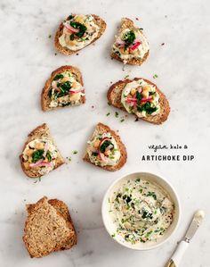 Vegan Kale & Artichoke Dip / @loveandlemons