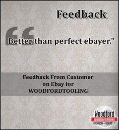 Feedback earned on ebay for #woodfordtooling Read more:
