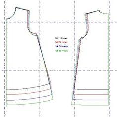 Sewing Set: VESTIDO TRAPECIO PARA IMPRIMIR TALLAS 18 - 24 - 30 - 36 MESES