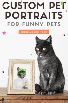 Custom Portraits & Cute Home Decor for Pet Owners by DarkMaskedCats Funny Cats, Funny Animals, Animal Books, Cute Home Decor, Pet Portraits, Your Pet, Etsy Seller, Pets, Creative