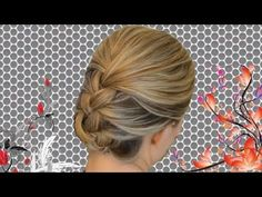 How to french braid your own hair to create business look.