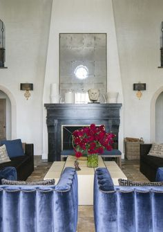 Bullard helped restore this gracious 1930 home for actress Ellen Pompeo, combining architectural details that respect the home's roots with comfortable, contemporary pieces.