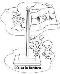 Todopreescolar: 200 años tiene nuestra Bandera Argentina Deco, Coloring Pages, Prints, Google, Folklore, Homeschool, Style, Founding Fathers, Paper