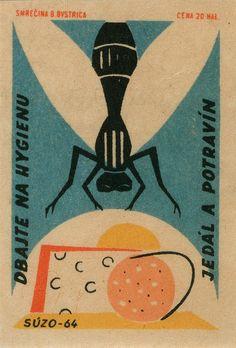 czechoslovakian matchbox label | OldBrochures.com