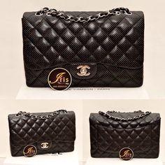 """กระเป๋า Used Chanel Classic 12"""" Black สภาพ 96% พร้อมส่งค่ะ!! - Iris Shop"""