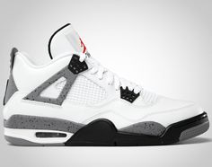 A Tinker Hatfield Classic: The Air Jordan IV white/cement grey.  Just picked up a pair.  Possibly the finest sneaker ever designed.