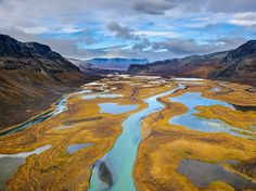 """""""We went backpacking in Sarek National Park but wanted to go deeper into the wilderness, which is why we chose to fly to the border with a helicopter,"""" writes Sven Zacek. The park in northern Sweden is sometimes called the """"Alaska of Europe,"""" he says. """"The sight of the Rapa River Delta in autumn colors was amazing, and I asked the pilot to do a couple of circles before landing."""""""