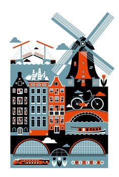 Amsterdam Art Print by Koivo  http://society6.com/product/Amsterdam-rtk_Print/