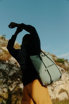 Lightweight with a low footprint: Made almost entirely from plants instead of plastic. Our Bananatex®️ fabric forms the structure and backpack straps, while the super lightweight shell is made from GOTS-certified organic cotton and finished with a natural wax coating for water-resistance. All metal parts are made from lightweight aluminium, allowing them to be recycled completely. - picture by Yves Bachmann© Backpack Straps, Leather Backpack, Simple Bags, Heron, Footprint, Bag Making, Biodegradable Products, Leather Shoulder Bag, Bags