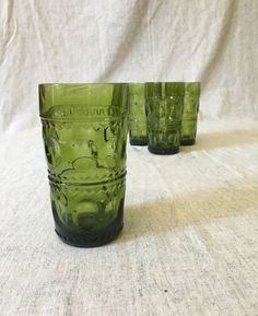 Vintage Indiana Glass Olive Green Kings by AmericasMainStreet