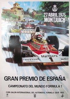 Póster Gran Premio España Montjuic 1975