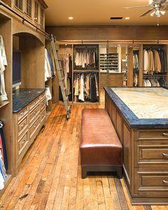 Spacious Masculine Closet