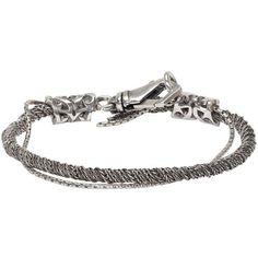 Emanuele Bicocchi Silver Torsion Bracelet ($165) ❤ liked on Polyvore featuring men's fashion, men's jewelry, men's bracelets, silver, mens woven bracelets, mens leather braided bracelets, mens engraved bracelets, mens chain link bracelets and mens silver bracelets