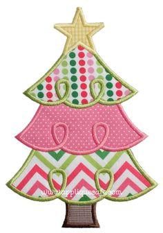 Loopy Christmas Tree 2 Applique Design
