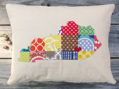 CHOOSE YOUR STATE State Love Pillow Sham 12 x by theplaidscottie #imadethis