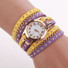 >> Click to Buy << High-Quality Women Watch Crystal Rivet Braided PU Leather Watchbands Bracelet Quartz WristWatches Woman Watch Horloges Vrouwen #Affiliate