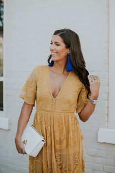 Get all of the perks of a romper AND all of the perks of a maxi dress with this lace overlay romper! The color is absolutely gorgeous too! Tassel Earrings Outfit, Statement Earrings Outfit, Steve Madden Heels, Spring Summer Fashion, Spring Style, Boho Fashion, Fashion Outfits, Moda Boho, Lace Romper